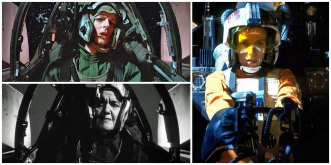 Female rebel pilots from Return of the Jedi