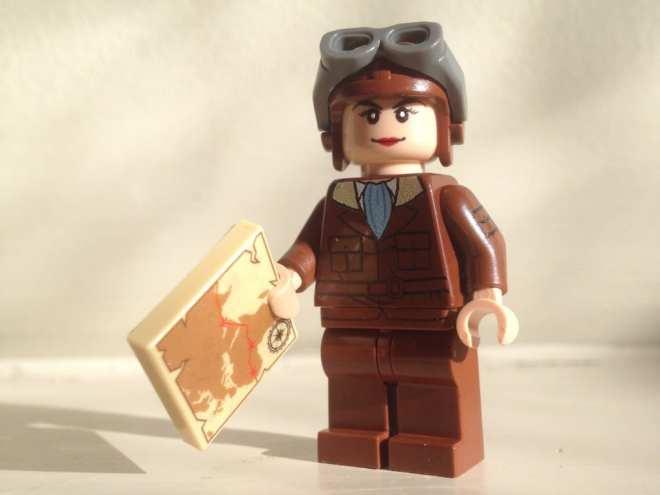 Amelia Earhart LEGO minifigure
