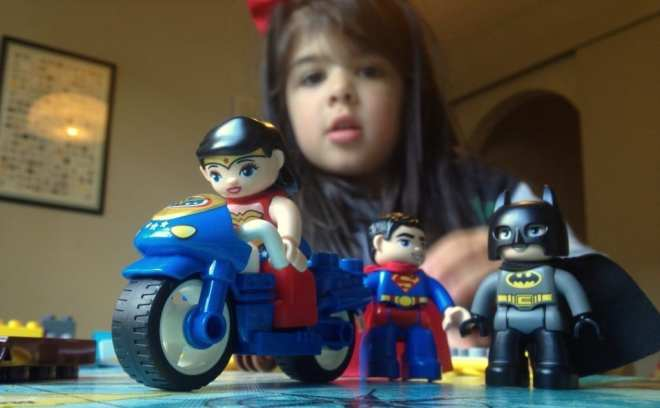 Lego Duplo Wonder Woman on bike