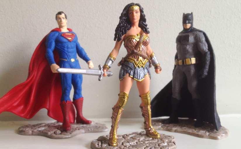 Wonder Woman, Batman and Superman movie tie-in Schleich figurines