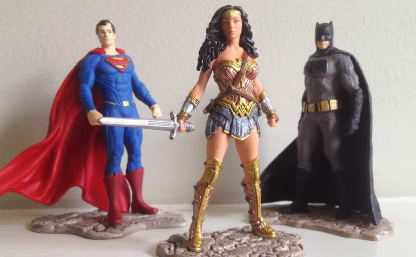 Wonder Woman, Batman and Superman movie tie-in Schleich figurines