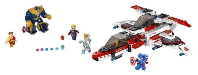 LEGO Marvel Super Heroes Avenjet Space Mission Review packshot, Captain Marvel  LEGO