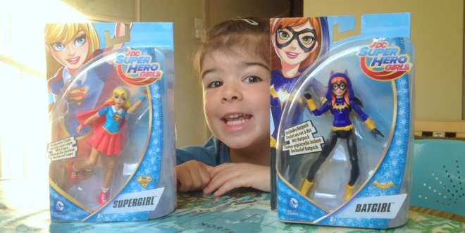 DC Super Hero Girls Action Figures - Supergirl and Batgirl SM
