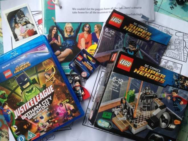 The Dads Breakfast Club 'LEGO DC Justice League Gotham City Breakout' goody bag