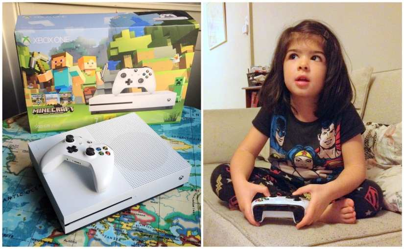 Xbox One S Minecraft edition, family media hub, gamer girl