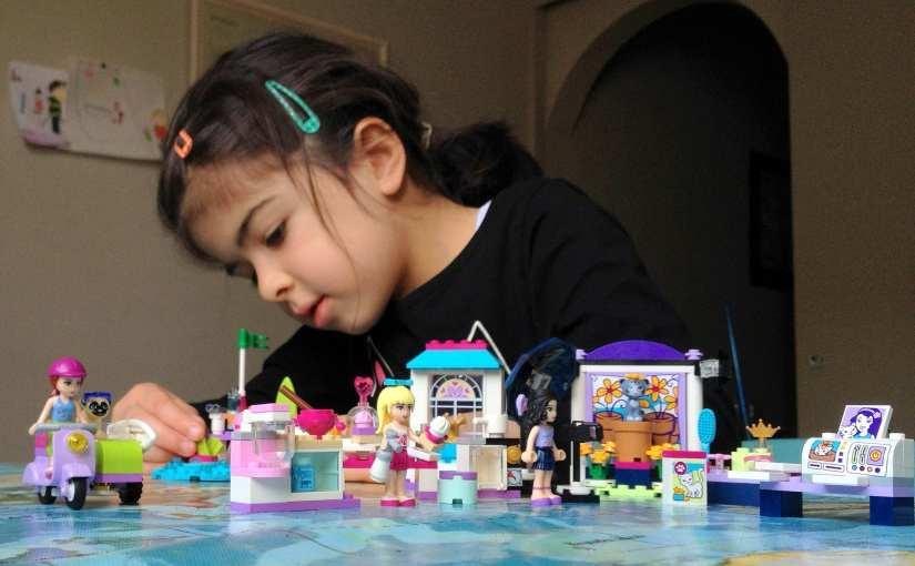 LEGO Friends sets Emma's Photo Studio, Mia's Beach Scooter, Stephanie's Friendship Cakes