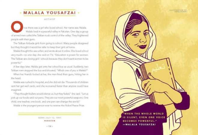 Malala Yousafzai, feminist bedtime stories for girls,