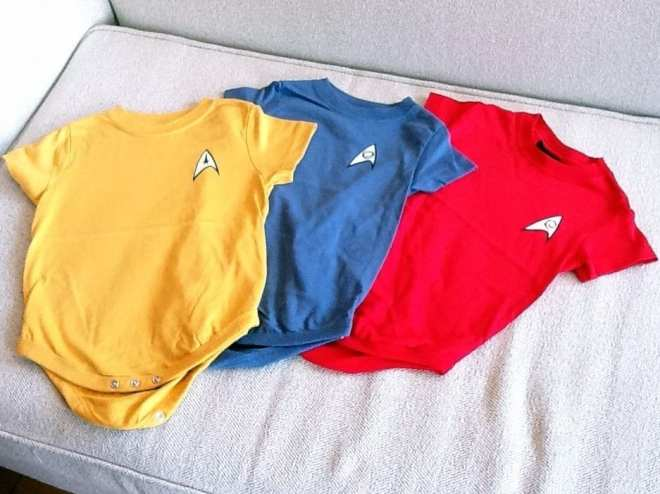 Star Trek babygrows