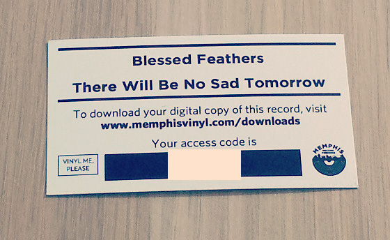 Vinyl download card