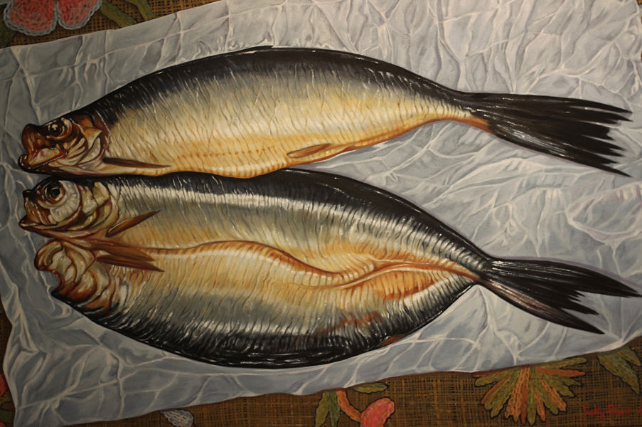 "Kippers for Patrick 45"" x 36"" (920 x 610mm)"