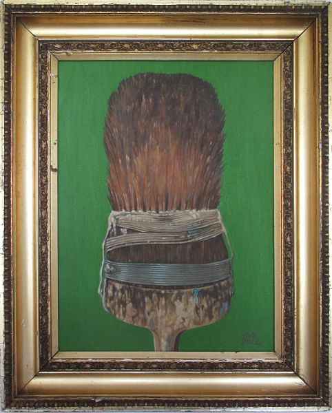 "The Paintbrush - Leaf Green 16"" x 12"" (410 x 380mm)"