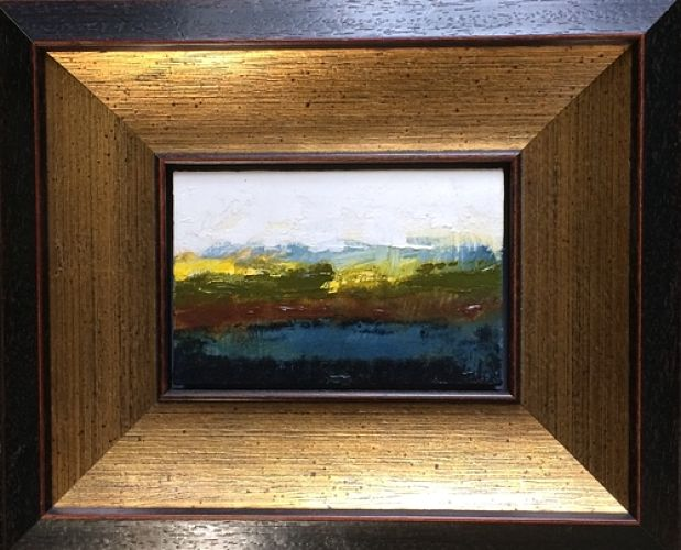 Spontaneous Landscape 1 with frame - 23.2cm x 18.5cm