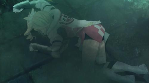 倒れているアリーシャ
