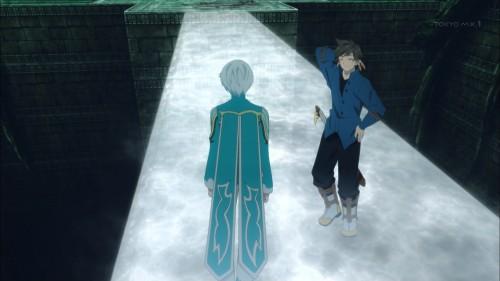 透明な橋を見つけたスレイとミクリオ
