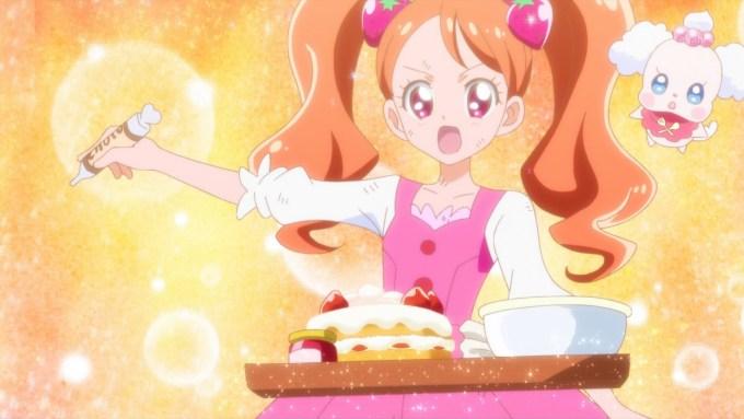 宇佐美いちかのケーキ作り(第1話画像)