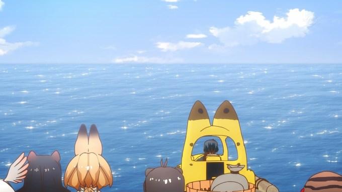 海に出るかばんちゃん(けものフレンズ12話画像)