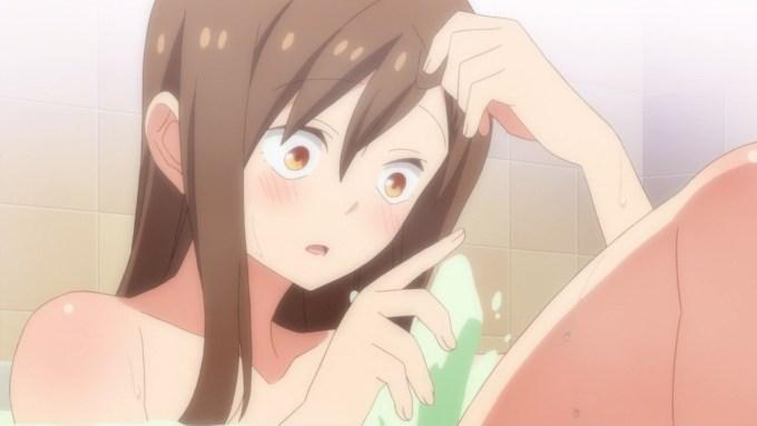 風呂に入る飯島香菜