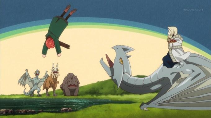 ドラゴンに投げられる羽鳥チセ
