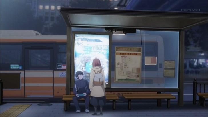 バス停で出会う泉瑛太と夏目美緒