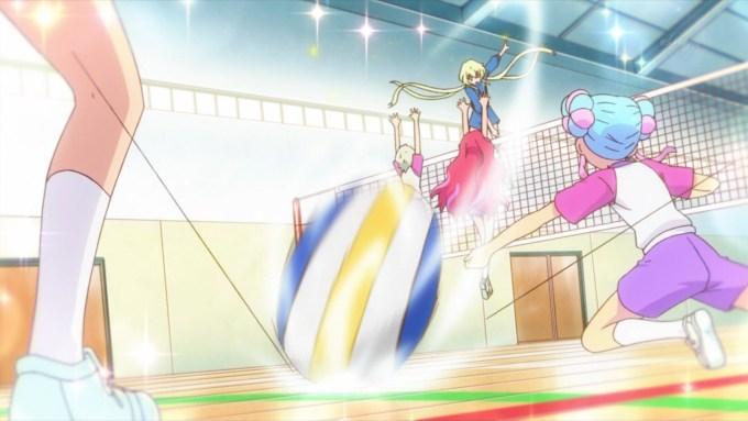 バレーボールをするヴィーナスアーク勢