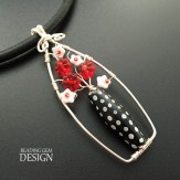 black and red flower bead vase pendant LOGO copy