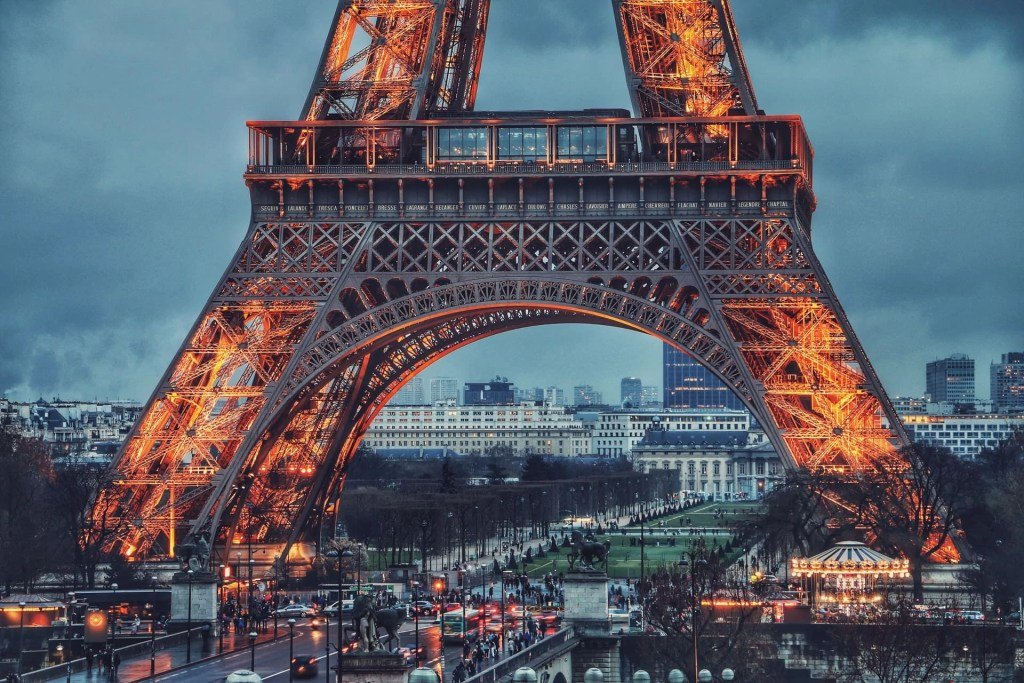 Eiffel Tower, which is discussed in the Join Us In France Travel Podcast