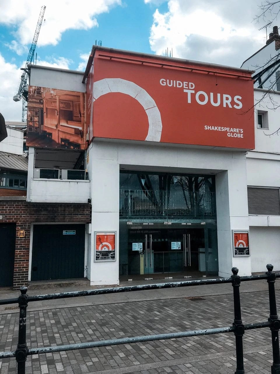 Exterior of the Globe Theatre in London, April 2020