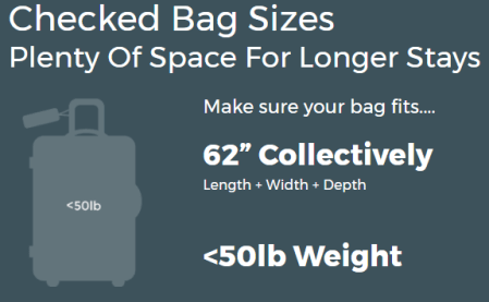 Frontier Airlines baggage size