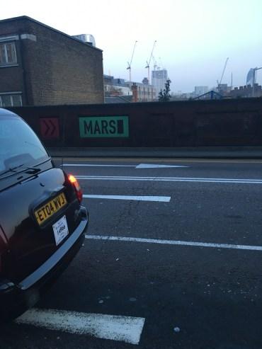 Mars? Mars?! Waterloo, I thought.