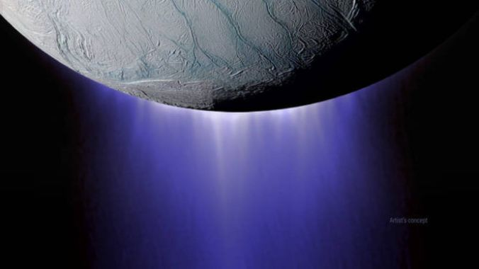 NASA's Cassini spacecraft completed its deepest-ever dive through the icy plume of Enceladus on Oct. 28, 2015. Credits: NASA/JPL-Caltech