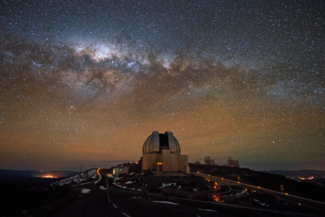 "The European Southern Observatory's La Silla facility in Chile. The ""Pale Red Dot"" campaign used previous data collected at La Silla, and updated with new observations there this year. (ESO)"