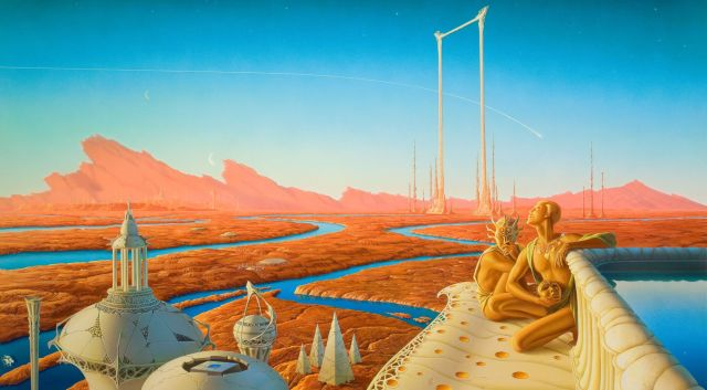 """A scene from """"The Martian Chronicles,"""" before settlers from Earth arrived and renamed pastoral lands """"Detroit II"""" and """"Aluminum Town."""""""
