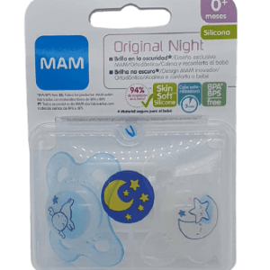 Chupete original night silicona azul 0+ Mam