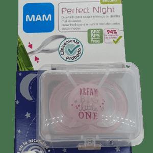 Chupete perfect night silicona rosa 6+ Mam