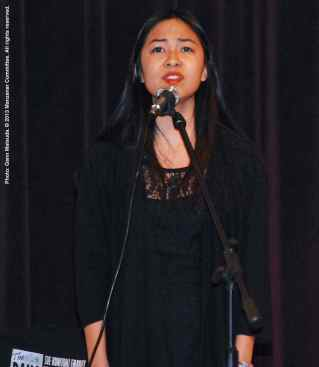 A cast member of Manzanar: Story Of An American Family performs.