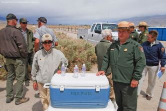 Some of the National Park Service staff and volunteers at the 46th Annual Manzanar Pilgrimage.