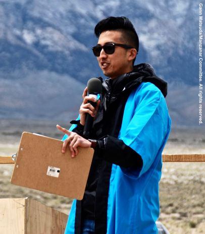 Kizuna Executive Director Craig Ishii served as emcee for the 47th Annual Manzanar Pilgrimage.