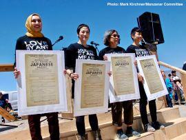 From left: Sahar Pirzada, traci kato-kiriyama, Kathy Masaoka and traci ishigo