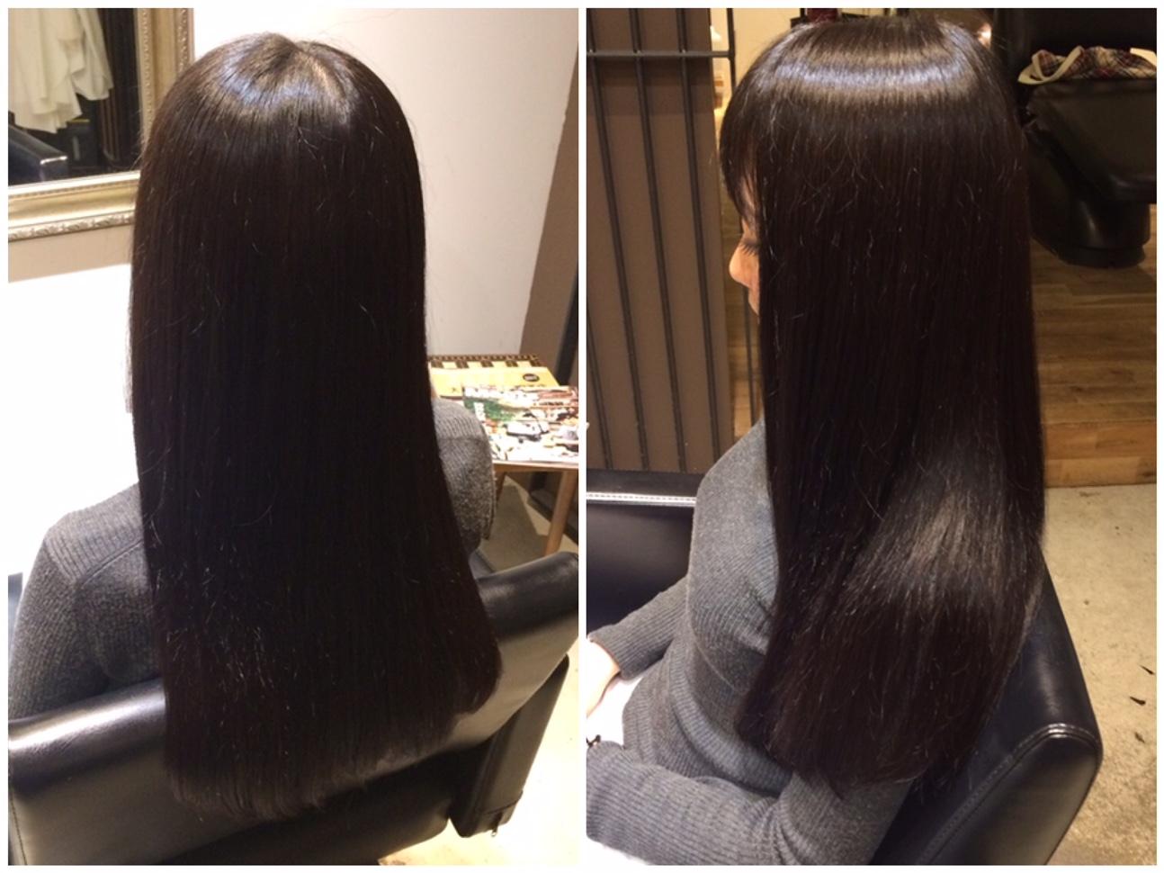 黒髪ロングストレートヘア