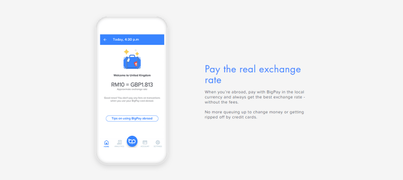 bigpay real exchange rate