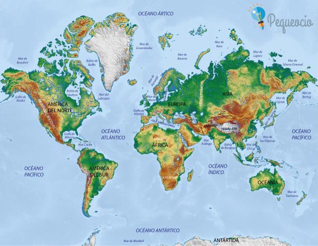 Resultado de imagem para mapa mundi físico