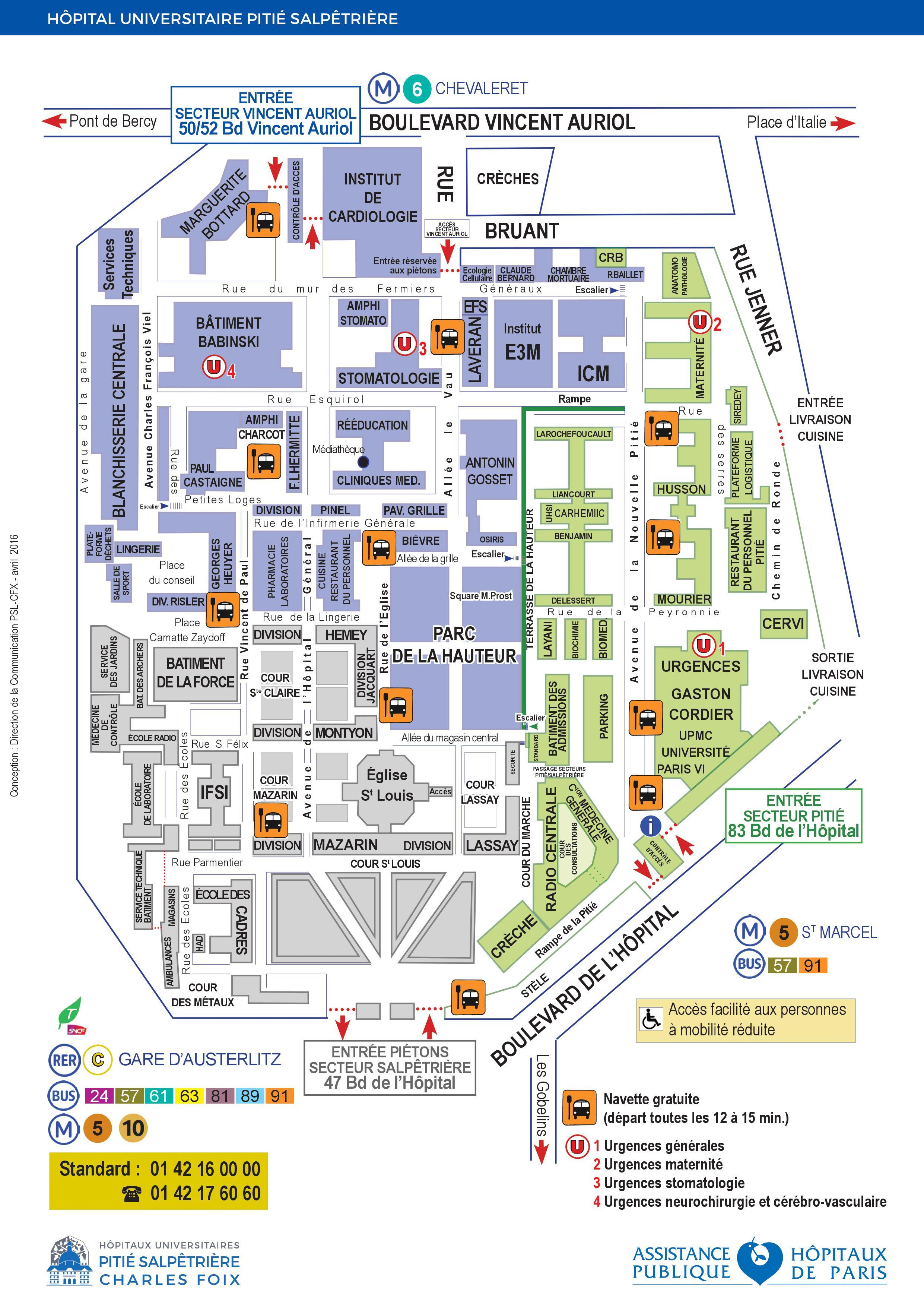 Pitie Salpetriere Hospital Map Map Of Pitie Salpetriere
