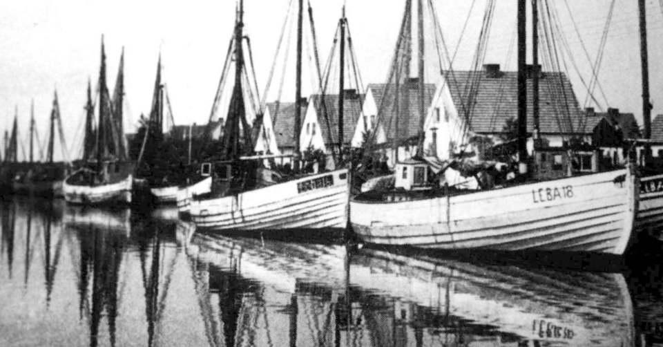 Stara Łeba - kanał portowy przy ul. Abrahama.