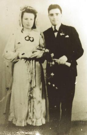 Ślub Zofii I Witolda Ziębickich w Łebie.
