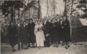 Ślub Ireny i Zygmunta Ratajczaków w 1958 roku.