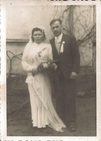 Stowięcino, 1950 rok, ślub Leokadii i Józefa Szotów