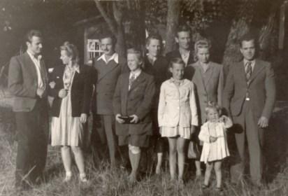 Spacer po Łebie - rok 1949