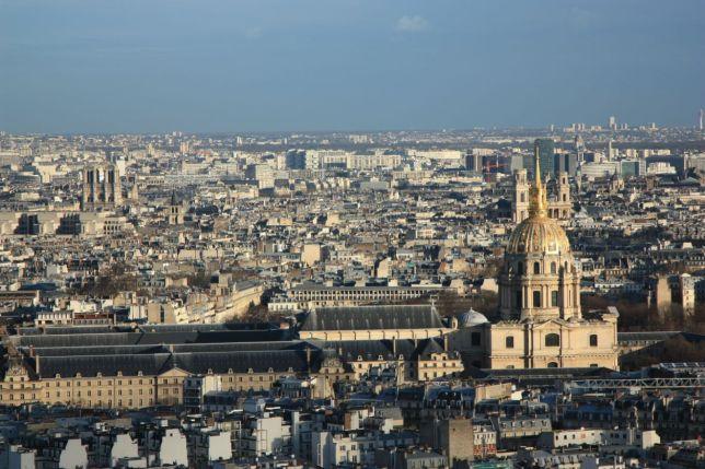 Vista do 2º andar da Torre Eiffel