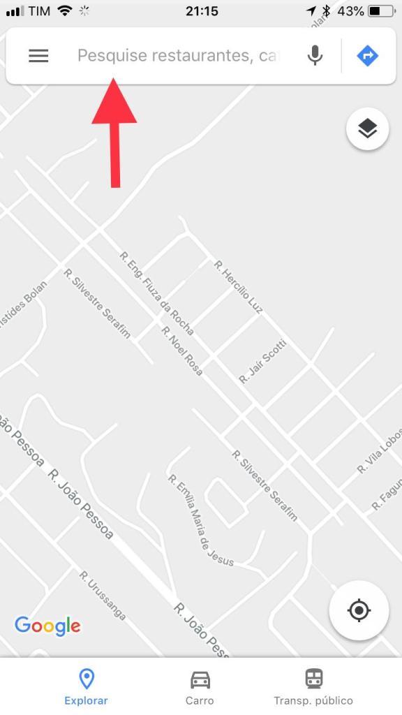 usando google maps nas ruas