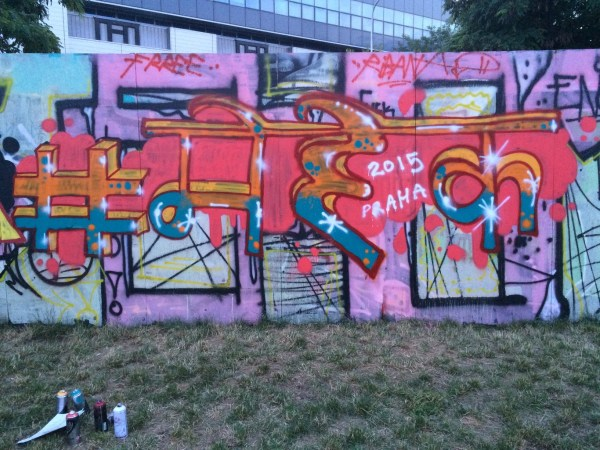 Offbeat Prague: My name in Hindi as part of a graffiti workshop